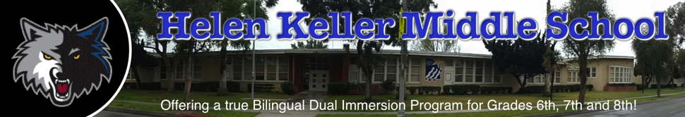 Helen Keller Dual Immersion Middle School  Logo